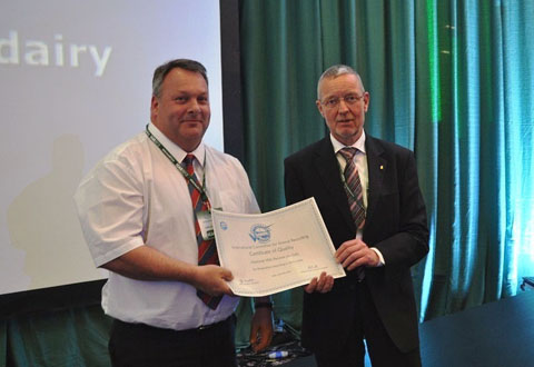 ICAR Certificate Presentation to Tony Craven